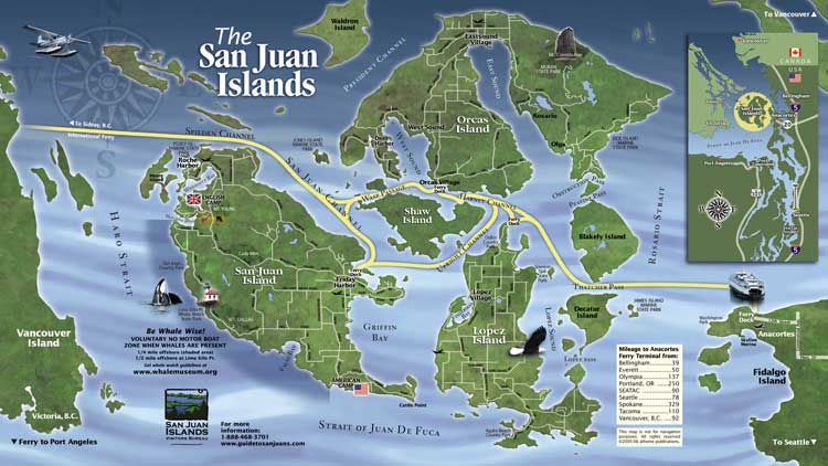 san juan islands map san juan island ems